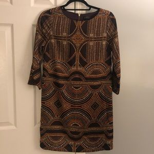 The Limited long sleeve shift dress-autumn colors